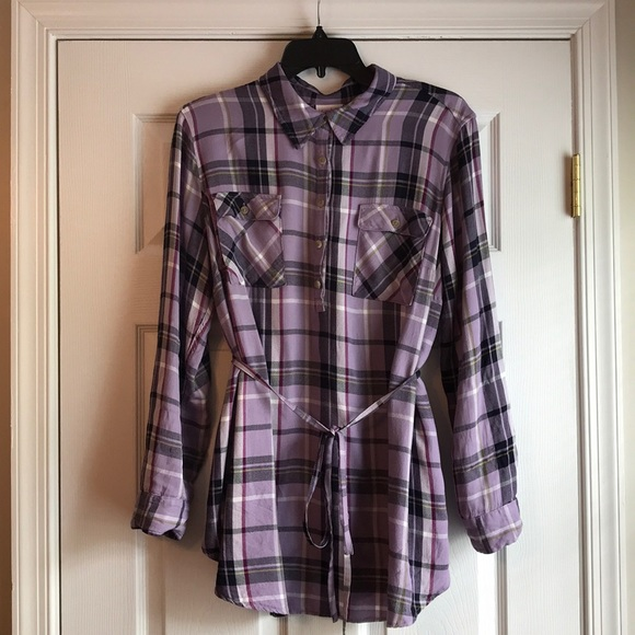 232c8cab2aad1 Isabel Maternity by Ingrid & Isabel Tops | Maternity Plaid Long ...